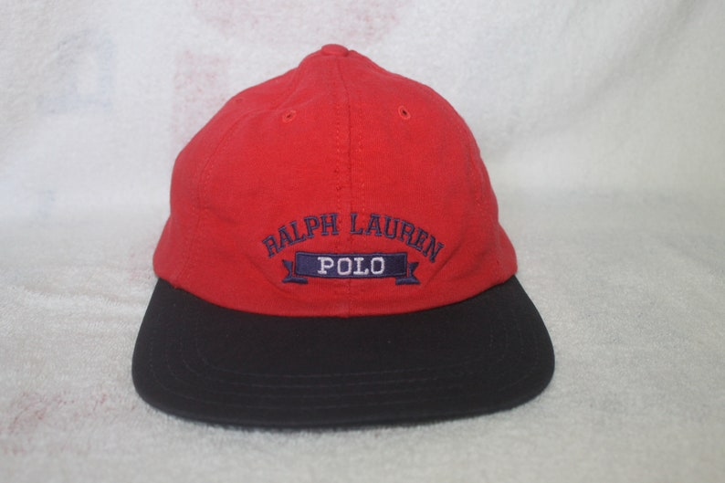 7a6332aa Vintage Polo Ralph Lauren Cap Hat 2 Tone Spell Out Sportsman   Etsy