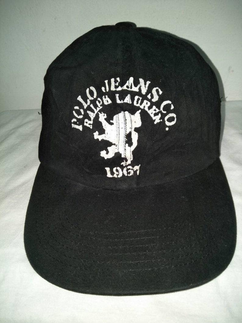 85286d20 Vintage Polo Jeans Ralph Lauren Cap Hat Spell Out Sportsman   Etsy