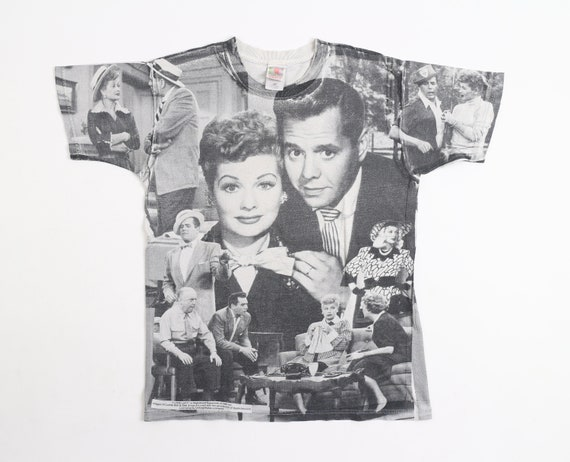 Vintag I Love Lucy All Over Print T-Shirt