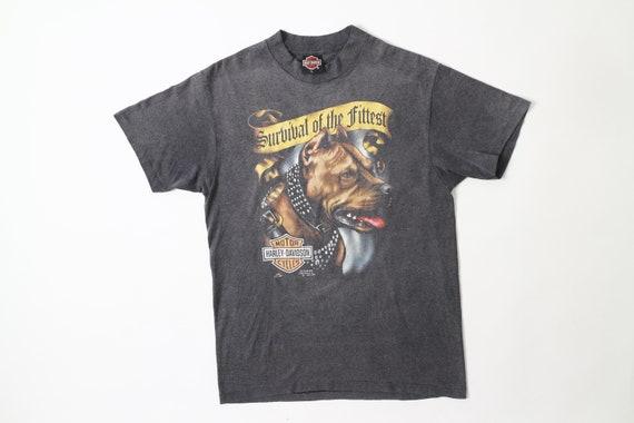 Vintage Harley Davidson 3D Emblem T-Shirt