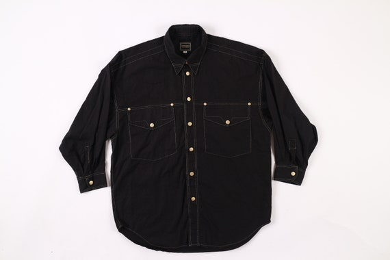 Versace Jeans Signature Shirt Gold Stitching
