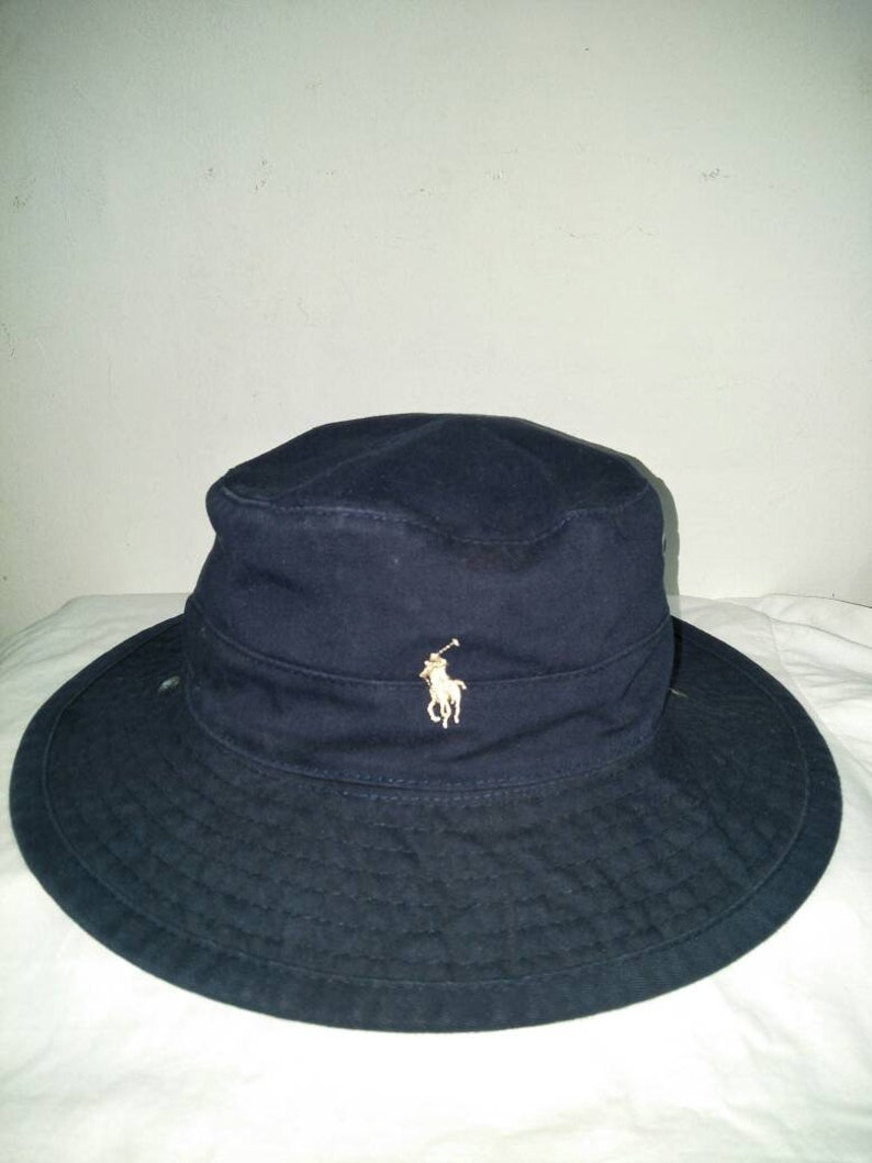 Vintage Polo Ralph Lauren Bucket Hat Spell Out Sportsman  ae2cdc8e09d