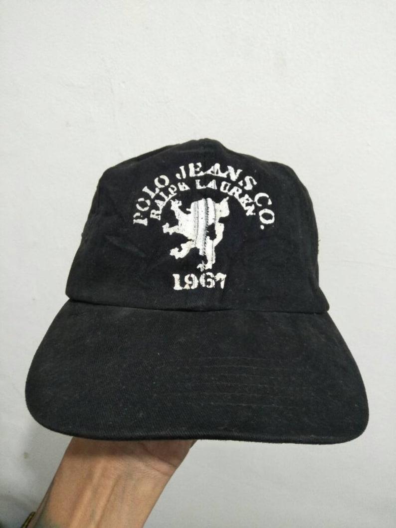 Vintage Polo Jeans Ralph Lauren Cap Hat Spell Out Sportsman  597c13112c49
