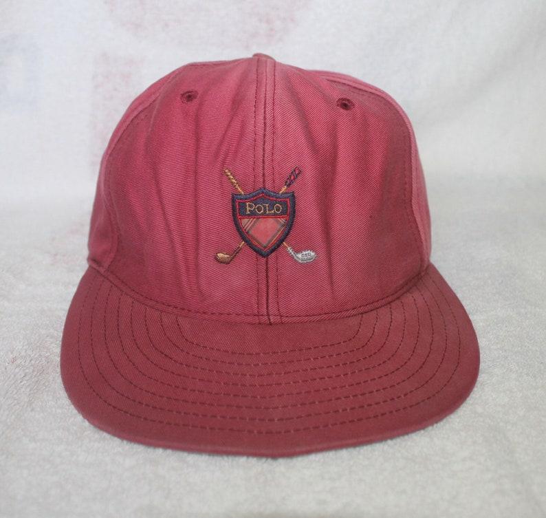 744c5270 Vintage Polo Golf Ralph Lauren Cap Hat Spell Out Ski Sportsman   Etsy