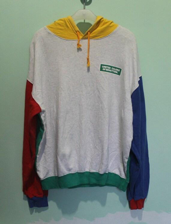 On Sale!! Vintage 90s BENETTON F1 Racing Team United Colors Of Benetton Half Zipper Sweatshirt Streetwear Style Activewear Women Size L 889zZwxln