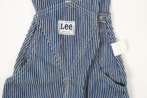 Vintage Lee Hickory Stripe Denim Overalls