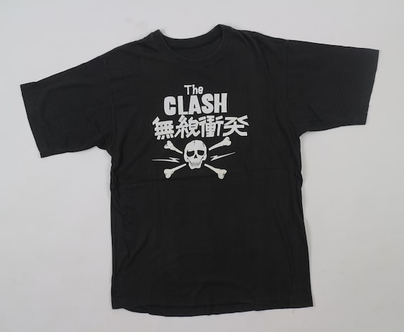 Vintage The Clash T-Shirt Punk Tour Concert