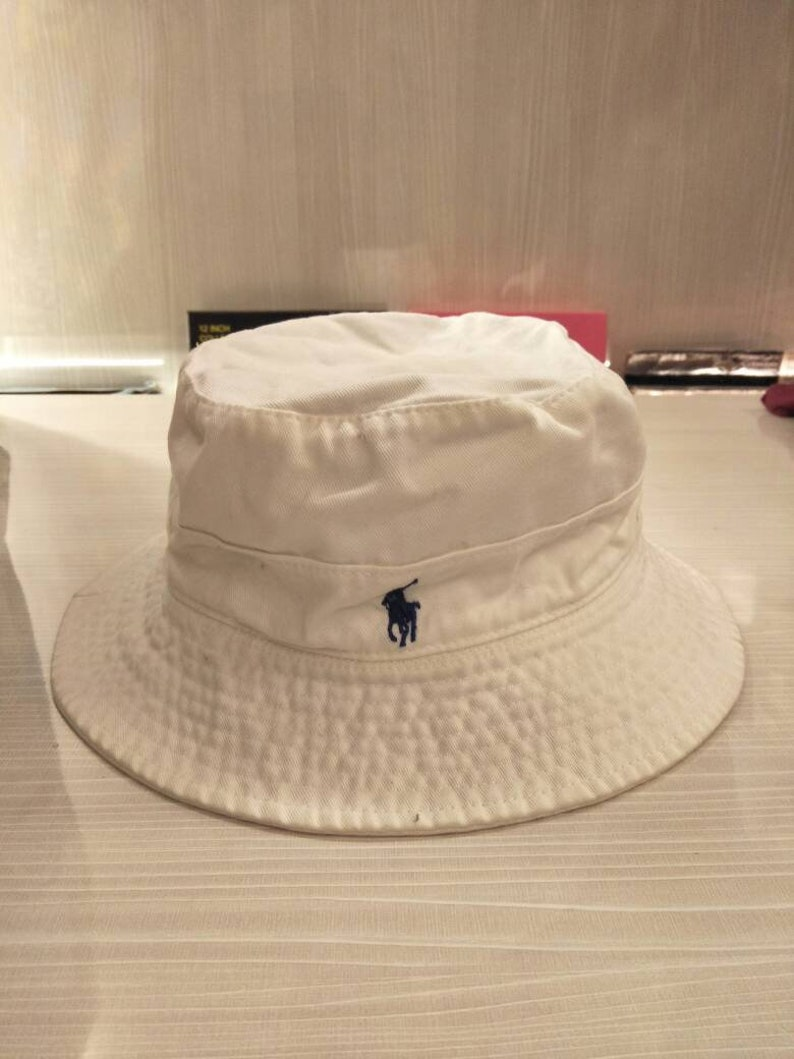 90528cffdcd Vintage Polo Ralph Lauren Bucket Hat Sportsman Stadium P Wing
