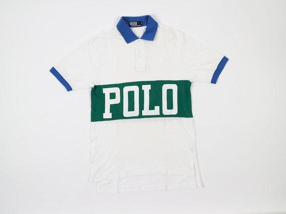 Vintage Polo Tennis Ralph Lauren Shirt Spell Out S