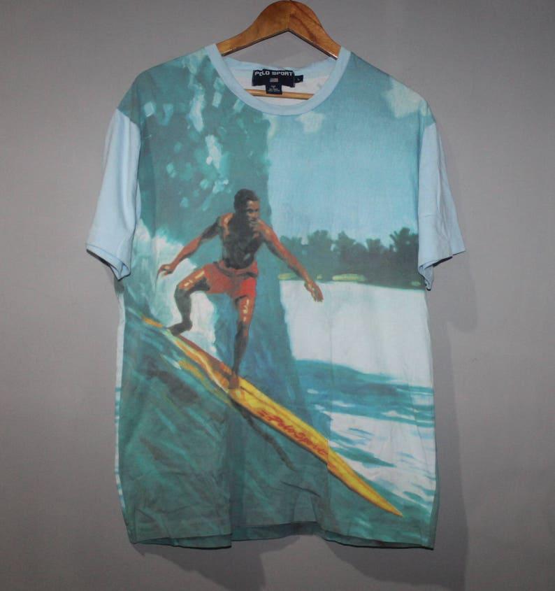 dcc8e102 Vintage Ralph Lauren Polo Sport Surfing T-Shirt Sportsman | Etsy