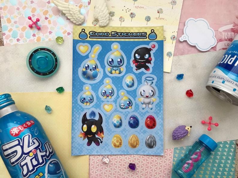 Chao Sticker Sheet    Sonic Adventure 2 Battle