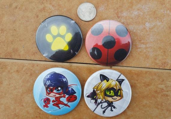 "1/"" miraculous ladybud pinback button pin"