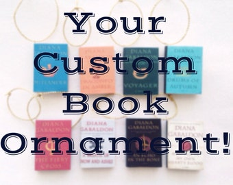 Jewelry to indulge the book lover in you by rosettebelles on etsy your favorite book ornament custom order custom book ornament fandeluxe Images