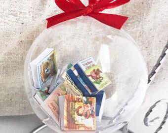 Little House on the Prairie Ornament, Laura Ingalls Wilder Book Ornament, Mini Book Ornament, All Nine Mini Books