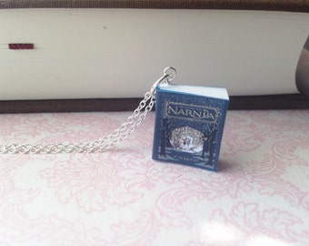 Handmade The Chronicles of Narnia Book Necklace // Miniature Book Necklace // C.S. Lewis Novel