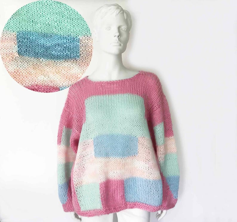 50983e48a2 The Molly Ringwald Vintage 80s Sweater Crochet Hand Knit