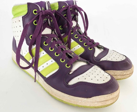 The ADIDAS All Day I Dream About Socks Vintage 90s Hi Tops Sneakers, Kicks, Tennis Shoes Raver Women's Shoes us 8.5 uk7 EUR 41 CM 26.5