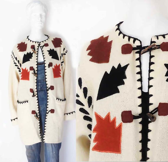 The Fall Into You Vintage 80s Sweater Cardigan Moh