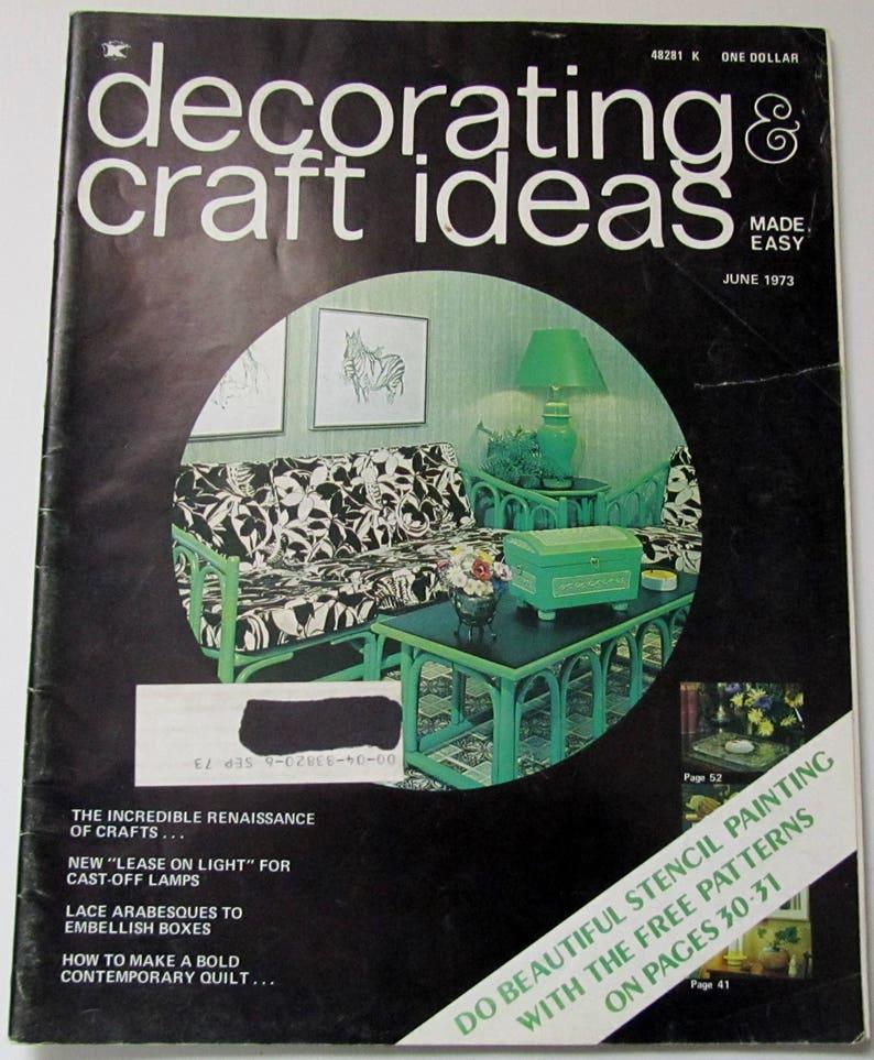 Decorating Craft Ideas Magazine June 1973 Etsy