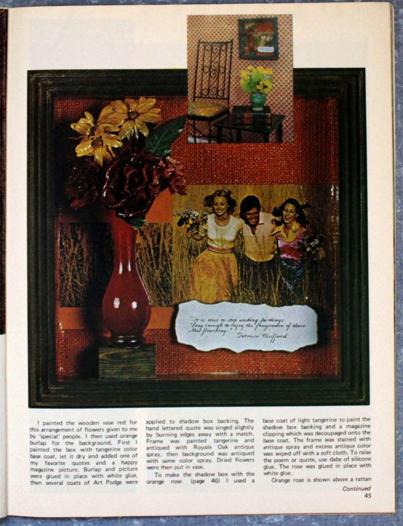 Decorating /& Craft Ideas Made Easy August 1973 CR0103 FREE SHIPPING