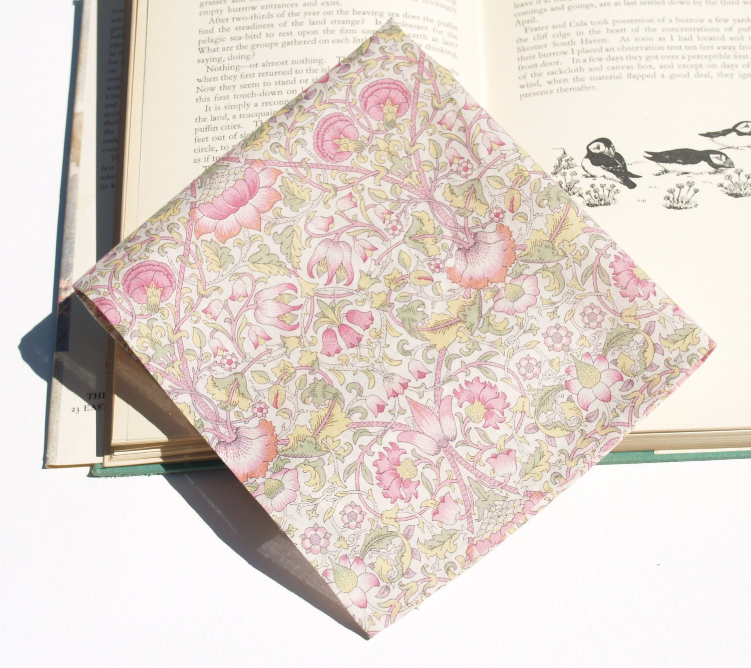 Handstitched Liberty of London Pink & Green William Morris