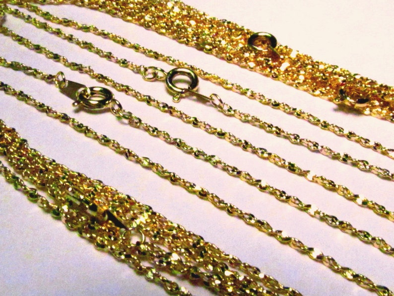 WHOLESALE LOT OF 15 STERLING SILVER PLATED 18 INCH 2mm TWISTED NUGGET CHAINS