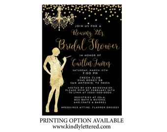 Gatsby bridal shower etsy bridal shower roaring 20s invitation art deco invitation great gatsby bridal shower bridal shower invitation printable roaring 20s filmwisefo