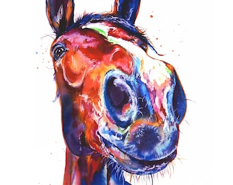 Horse  Art Print of my Original Painting (FREE Shipping)