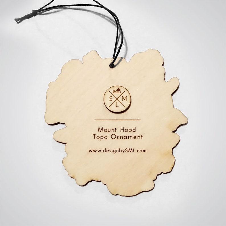 Mount Hood Topography Ornament