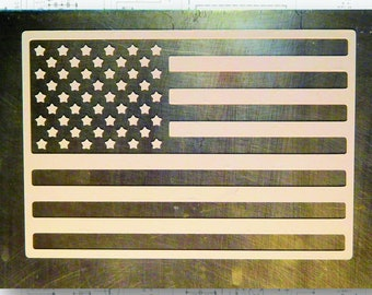 "4"" Wide American Flag Sticker"