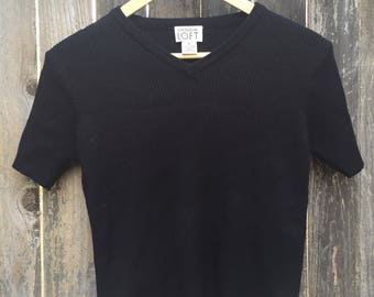 2b92fb566b5 90s Ann Taylor Loft Short Sleeve Sweater S