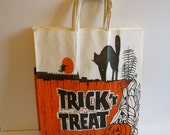 Halloween, Halloween Lot of 4 Vintage Paper Trick or Treat Bag