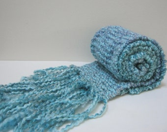 Knit Scarf Aqua  Winter Accessories Blue Chunky Scarf Winter Scarves Woman Teen Gift Idea Mother's Gift