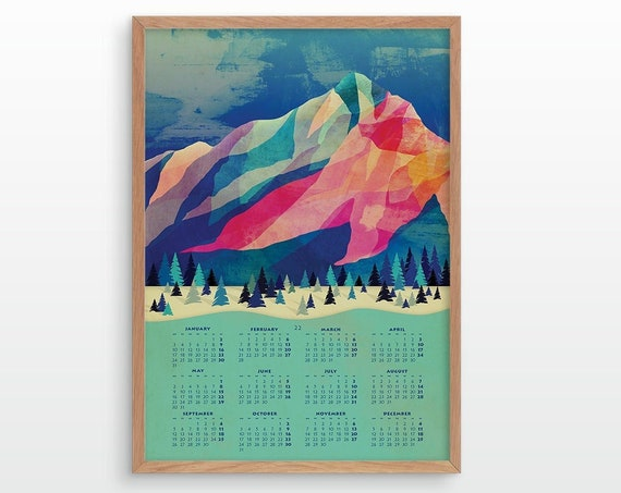 2022 wall calendar. Wall decor for your home or office.
