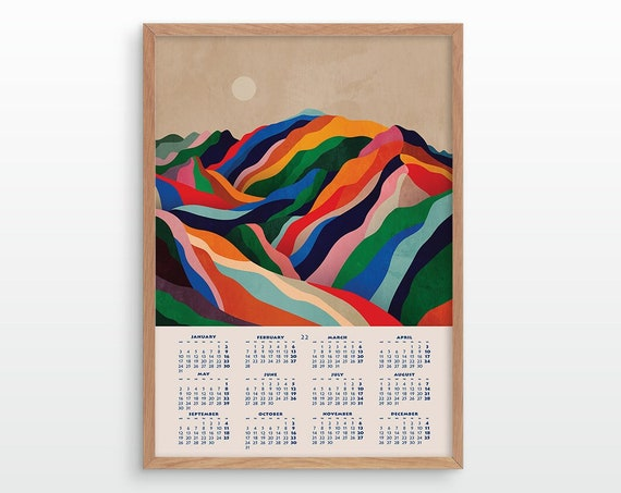 2022 Mountains wall calendar. Wall decor for your home or office.