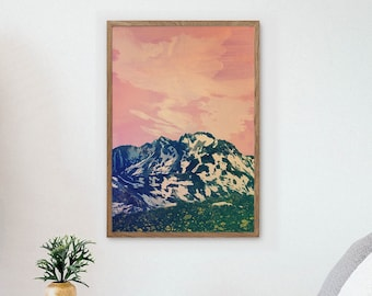 Landscape art print. Balkan mountains. Ideal print for decorating your living room or office.