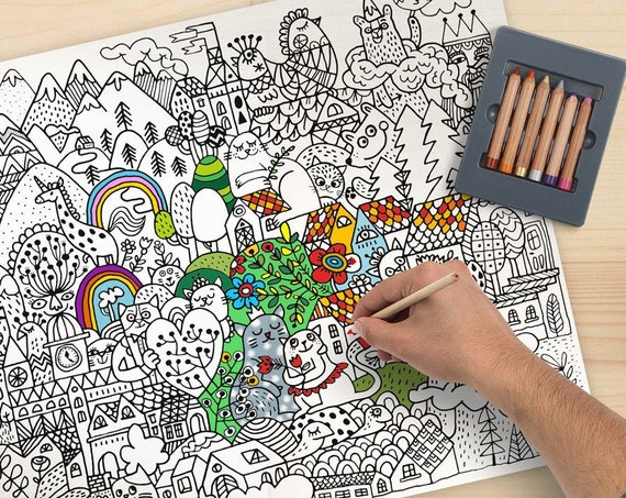 Big size colouring pages for kids.