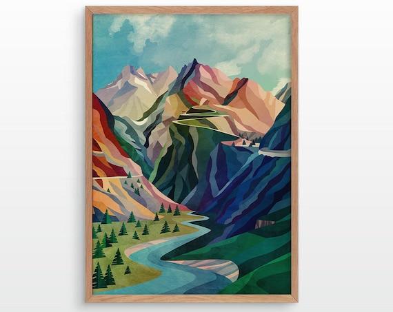 Mountain Pass. Fine art print.