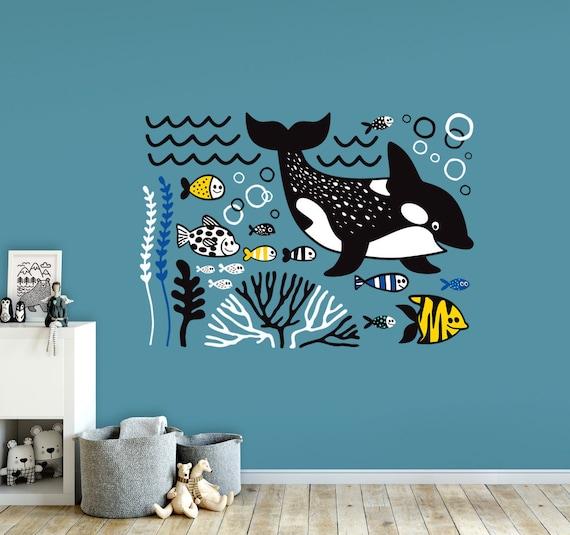 ocean wall decal nursery decor. underwater wold. sea life   etsy