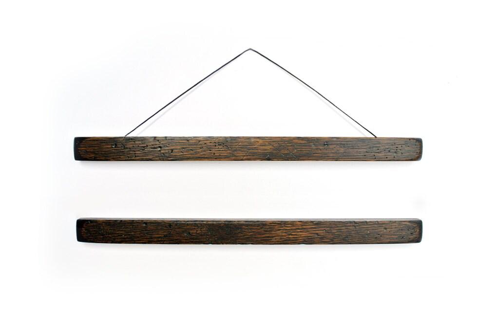 Holz Plakat Aufhänger DARKO gut getragen gealtert und | Etsy