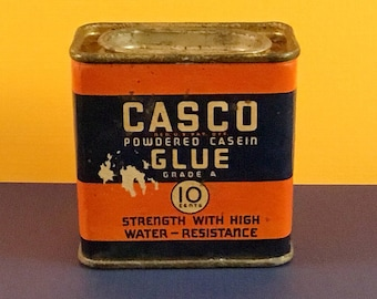 CASCO Powdered Casein Glue Tin Can