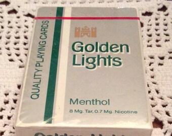 Playing Cards: Kent Golden Light Menthol