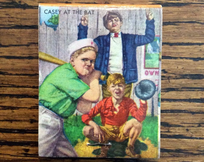 CASEY at the BAT MATCHBOOK Cover Vintage Baseball Themed