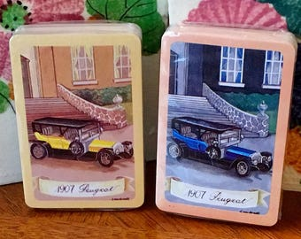 Playing Cards: Peugeot Vintage Automobiles
