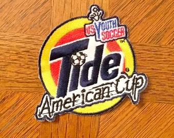 TIDE American Cup US Youth SOCCER Sew-On Patch Sewing Applique