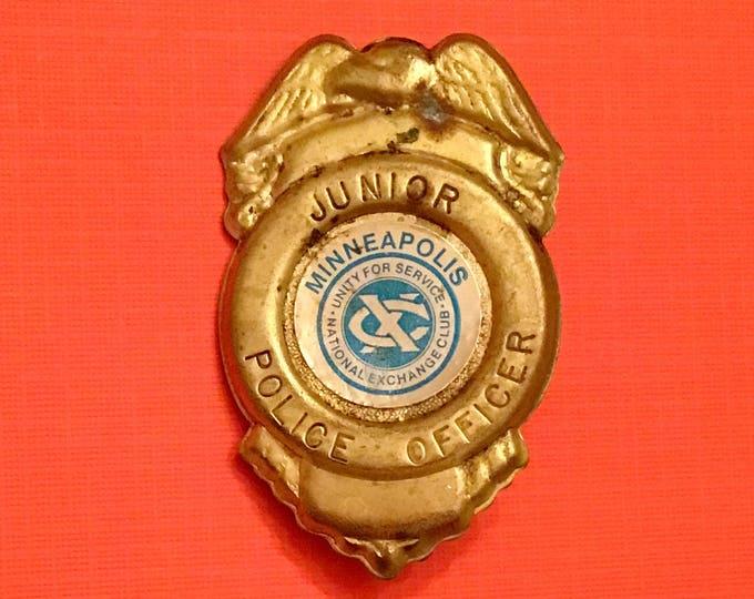 Vintage Minneapolis JUNIOR POLICE OFFICER Badge