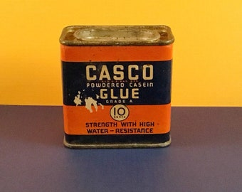 CASCO Powdered Casein Glue Tin Can