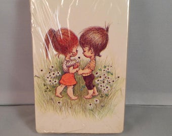 Playing Cards: Boy and Girl in Love (1970's)