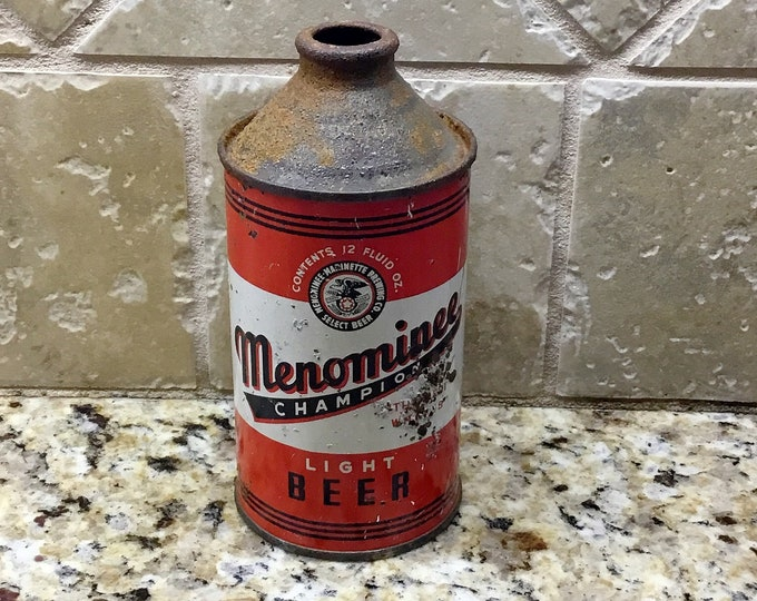MENOMINEE Cone Top BEER CAN Vintage