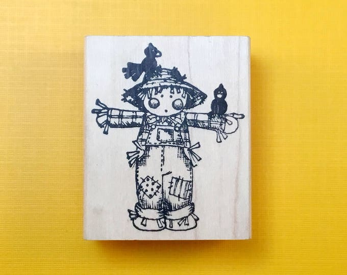 Scarecrow Kid Wood Mount Rubber Stamp by (1995-96)